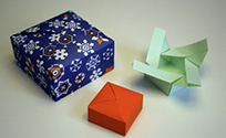 bo te origami refermable antre site. Black Bedroom Furniture Sets. Home Design Ideas