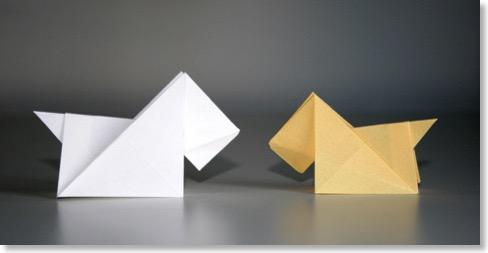 tutoriel origami chien. Black Bedroom Furniture Sets. Home Design Ideas